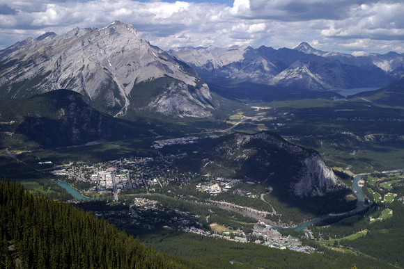 Banff town from the Sulphur Mountain